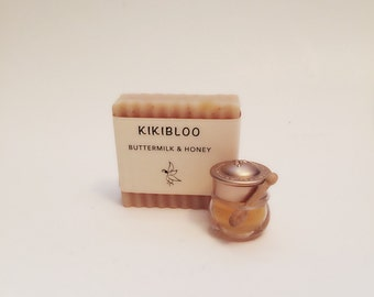 Buttermilk & Honey Soap Natural Organic Cold Process Soap By kikibloo