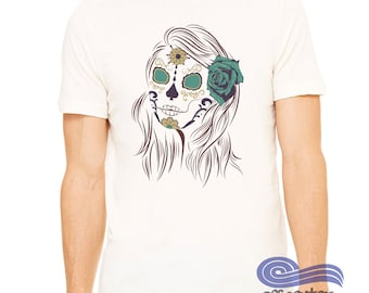 Dia Del los Muertos Shirt, Sugar Skull Shirt, Day of the dead shirt, Illustrated Shirt, Graphic TShirt, Cinco De Mayo Shirt, Graphic T shirt