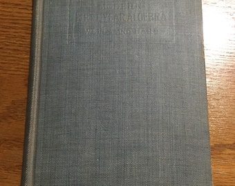 1928 Modern First Year Algebra Book