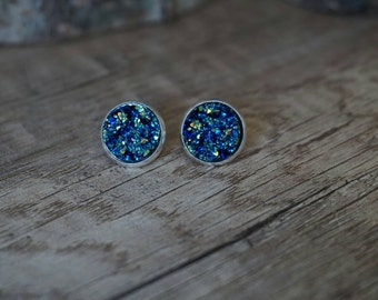 Blue Crystal stones earrings