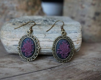 "Earrings ""Violet Flowers"""