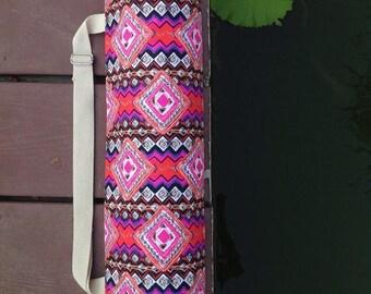Handmade Thai Printing Fabric Yoga And Pilates Mat bag Adjustable Strap