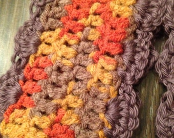 Fall Colored Crochet Scarf