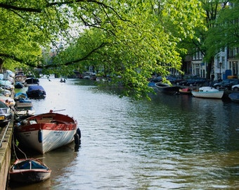 Resting Boat - Canal - Amsterdam - Netherlands - Photo - Print