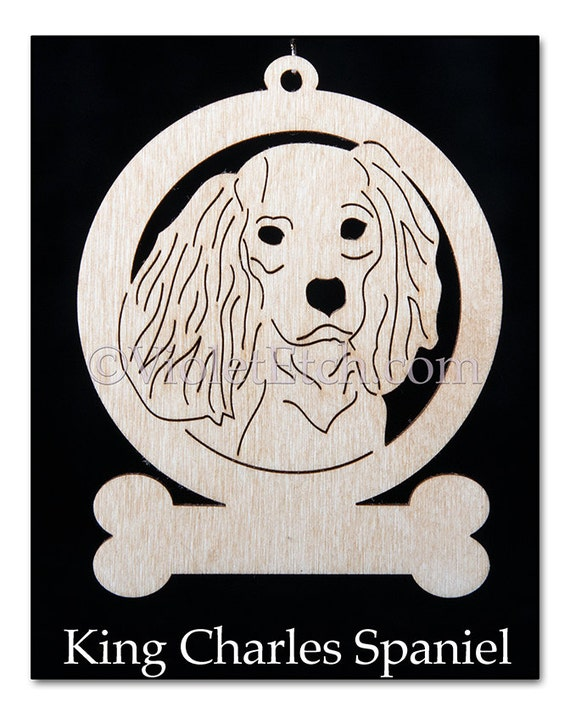King Charles Spaniel Ornament-King Charles Spaniel Gift-Free Personalization