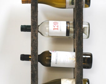 Reclaimed Wood 4-Bottle Wine Rack
