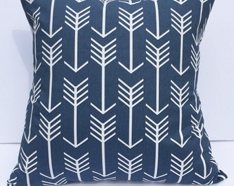 Decorative pillow throw pillow cover accent pillow cover navy pillow cover arrow pillow cover couch pillow cover home decor home accents