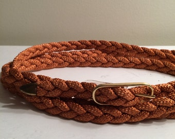 Vintage 1970's Braided Wrap Belt