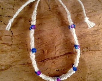 White Micro Macrame Bracelet