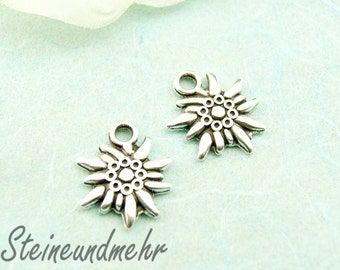 2 x pendant plated silver Edelweiss article 2910