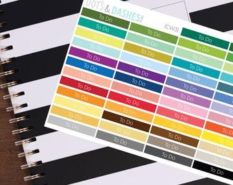 CW3- To Do header label, header stickers, planner stickers, eclp, vertical planner headers, planner headers, to do headers, to do list