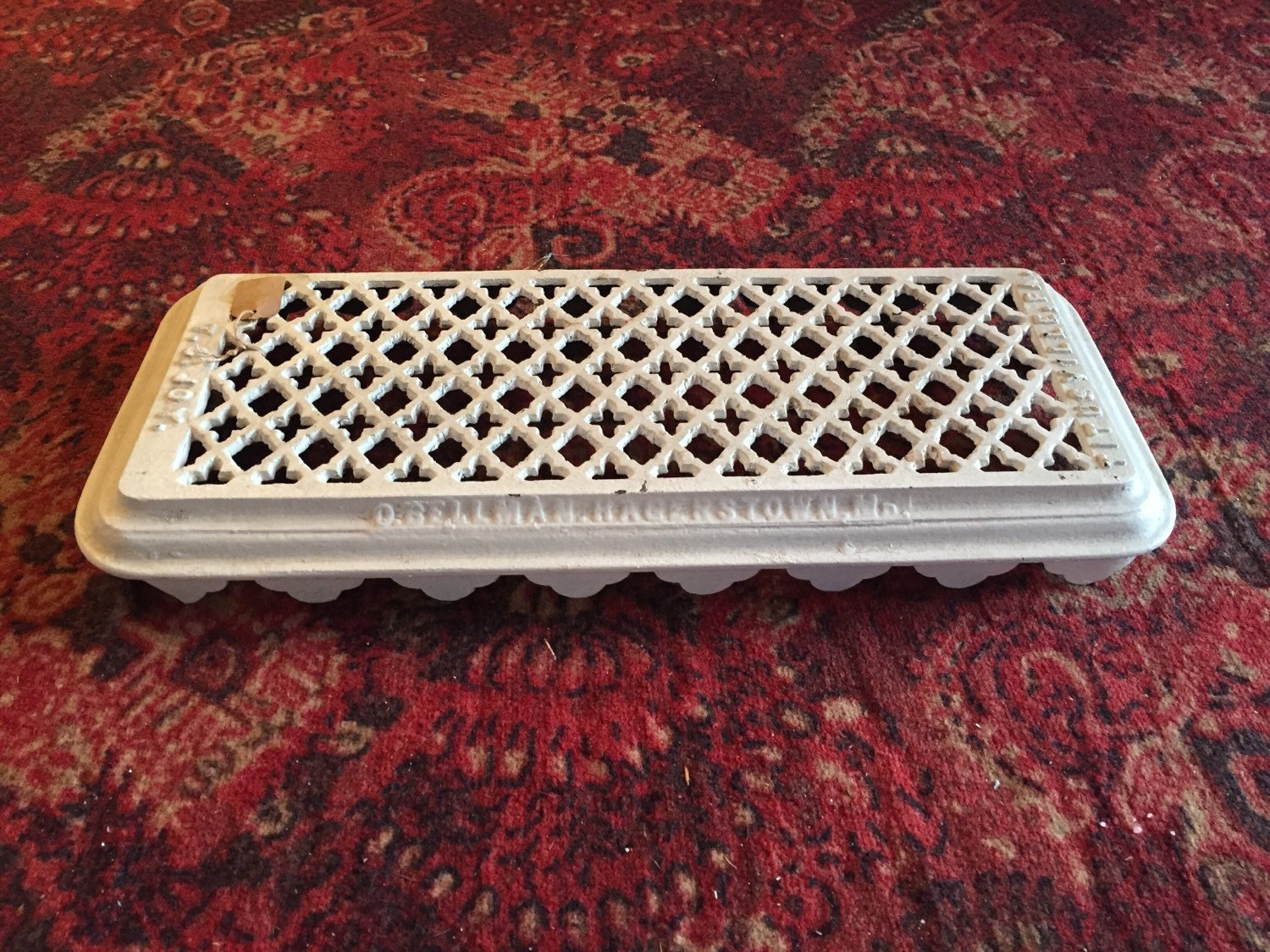 Antique cast iron steam radiator cover by kd0112 on etsy - Cast iron radiator covers ...
