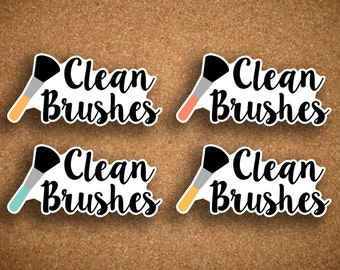 Make Up Brush Cleaning Planner Stickers for Inkwell Press IWP-LBC1
