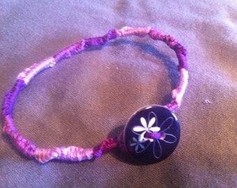 Women's Handmade Purple String Bracelet