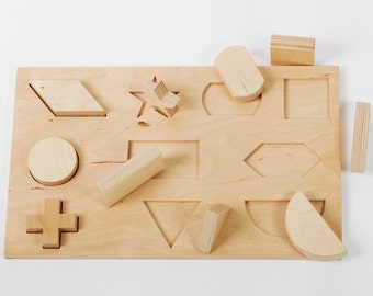 Montessori Geometric Shapes Puzzle