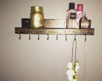 rustic organizational/jewelry shelf