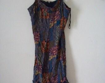 SCARLETT Womens Blue Floral Dress