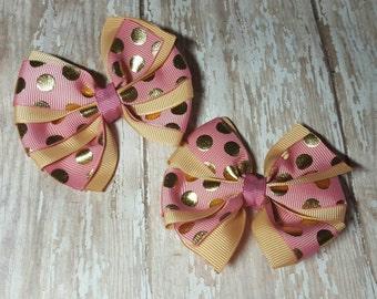 Pinwheel set  hairbows