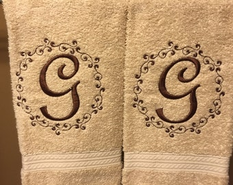Personalized Initial Hand Towel