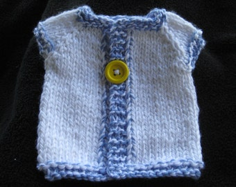 Infant Sweater / One Button Sweater / White Sweater