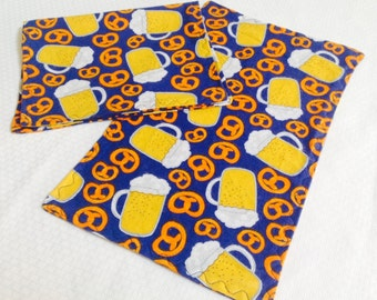 Beer and Pretzel Burp Cloths