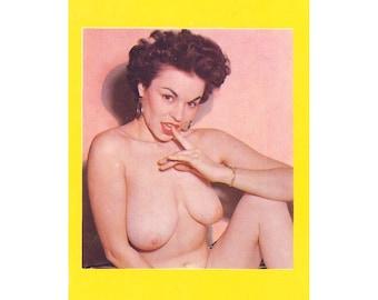 Vintage Risque Burlesque Model Card
