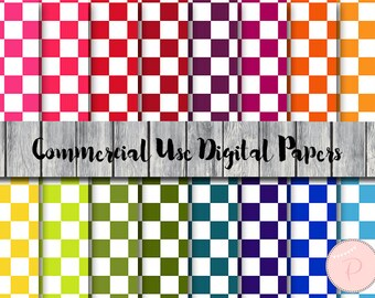 Checkered Paper,  Digital Paper, Square Pattern, Download Digital Papers, Commercial Use, Scrapbook Digital Papers, Digital Background, dp97
