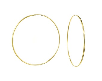 Large 14K Gold Filled Endless Hoop Earrings