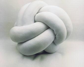 Petite White Knot Cushion Pillow