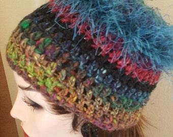 Mediterranean Blue Fringe Hat