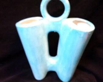 Double Vase With Handle