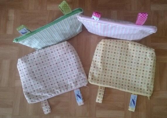 Pram caddy / pram organiser / mini wet bag / Makeup Bag