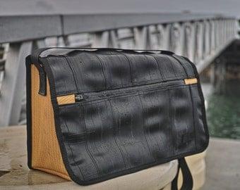 Tube Messenger Bag-Inner Tube-Fire Hose-Recycled Tubes-Upcycled Bag