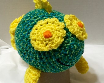 Crocheted Fish Turquoise/Green #3, Amigurumi Fish, Amigurumi Goldfish, Fish Toy, Nursery Decor
