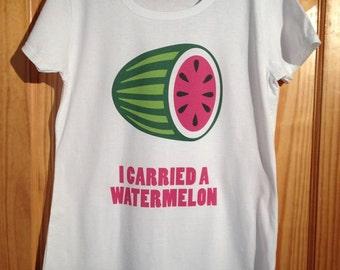 Dirty Dancing - llevaba una sandía culto película camiseta (Patrick Swayze) - camisa de mujer blanca