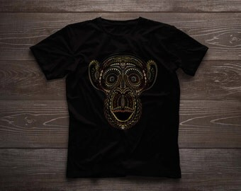 "Hand Painted t-shirt ""Monkey"""