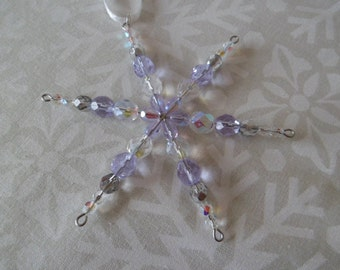 SALE *Save 10%* Beaded Snowflake Decoration