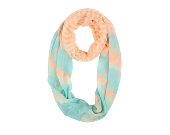 Summer Striped Infinity Scarf