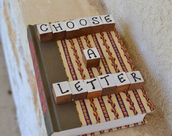 Readers Digest Book Letter-floral pattern