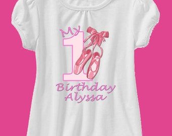 ballerina birthday shirt