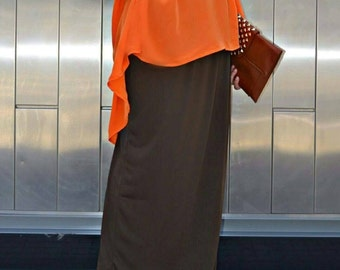 Chocolate Brown Jersey Skirt-size Medium