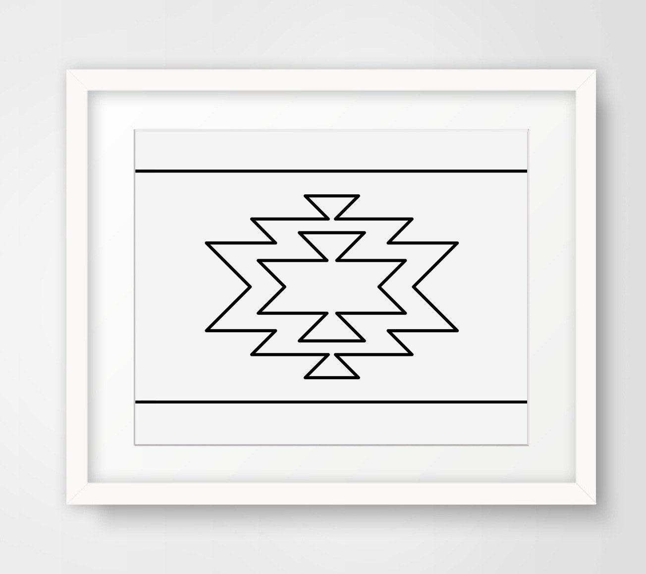Navajo Print geometrische moderner Hauptdekor aztekische