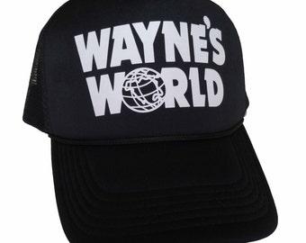 Wayne's World Hat Wayne Campbell Garth Shwing Cosplay Trucker Foam Mesh Party Caps