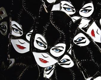 Catwoman soft enamel pin