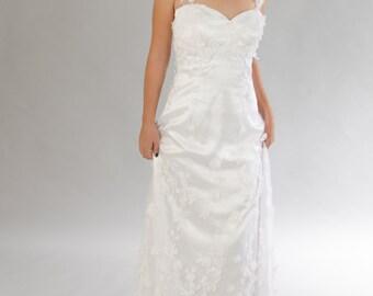 Vintage wedding dress, Backless Wedding dress, Lace wedding dress,, Bridal dress, Wedding dress.
