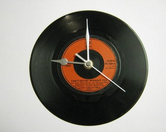 "Real Thing - ""Can't Get By Without You/(He's Just A) Moneymaker"" Record Wall Clock"