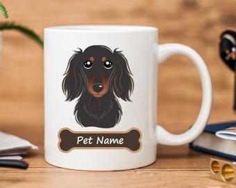 Dachshund Mug 2 | Personalized Pet's Name Mug | Dog Mug Cup | Cute Dog Mug | Custom Pet Mug | Dog Lover Mug | Gift Cup | Birthday Cup | Dog