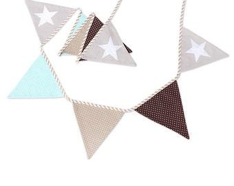 Garland Triangle Bunting Banner Scandinavian White