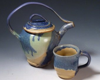 Blue and Purple Tea Set