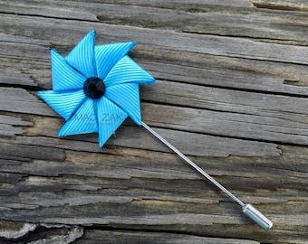 Eco Lt. Blue Pinwheel Pin